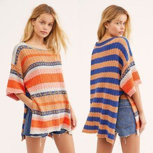 NWT Free People Hidden Love Tunic Top Striped